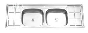 Stainless Double Bowl Kitchen Sinks | Salon Equipment for sale in Lagos State, Orile