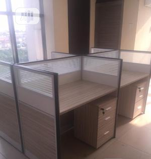 Wooden Workstation Table | Furniture for sale in Lagos State, Lekki