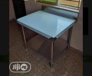 Quality Stainless Steel Working Table With Back Up And Down | Restaurant & Catering Equipment for sale in Lagos State, Victoria Island