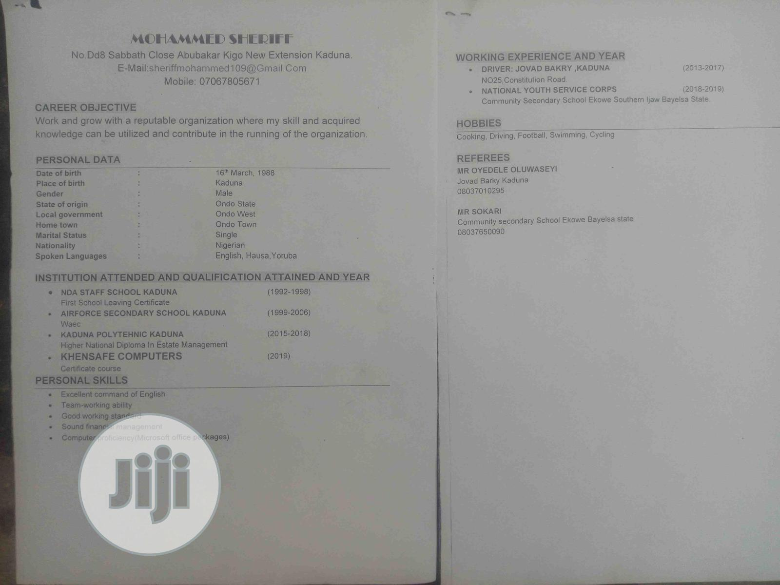 Customer Service CV