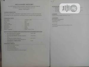 Customer Service CV   Customer Service CVs for sale in Ondo State, Ondo / Ondo State