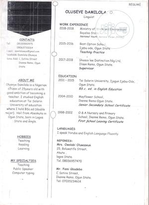 Restaurant CV   Restaurant & Bar CVs for sale in Oyo State, Ibadan