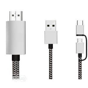 Android Phone To HDTV HDMI Cable 1080P And Type C USB 3.15pin USB   Accessories & Supplies for Electronics for sale in Lagos State, Ikeja