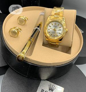 Rolex Oyster Perpetual Gold Chain Watch With Cufflinks and Pen   Watches for sale in Lagos State, Lagos Island (Eko)