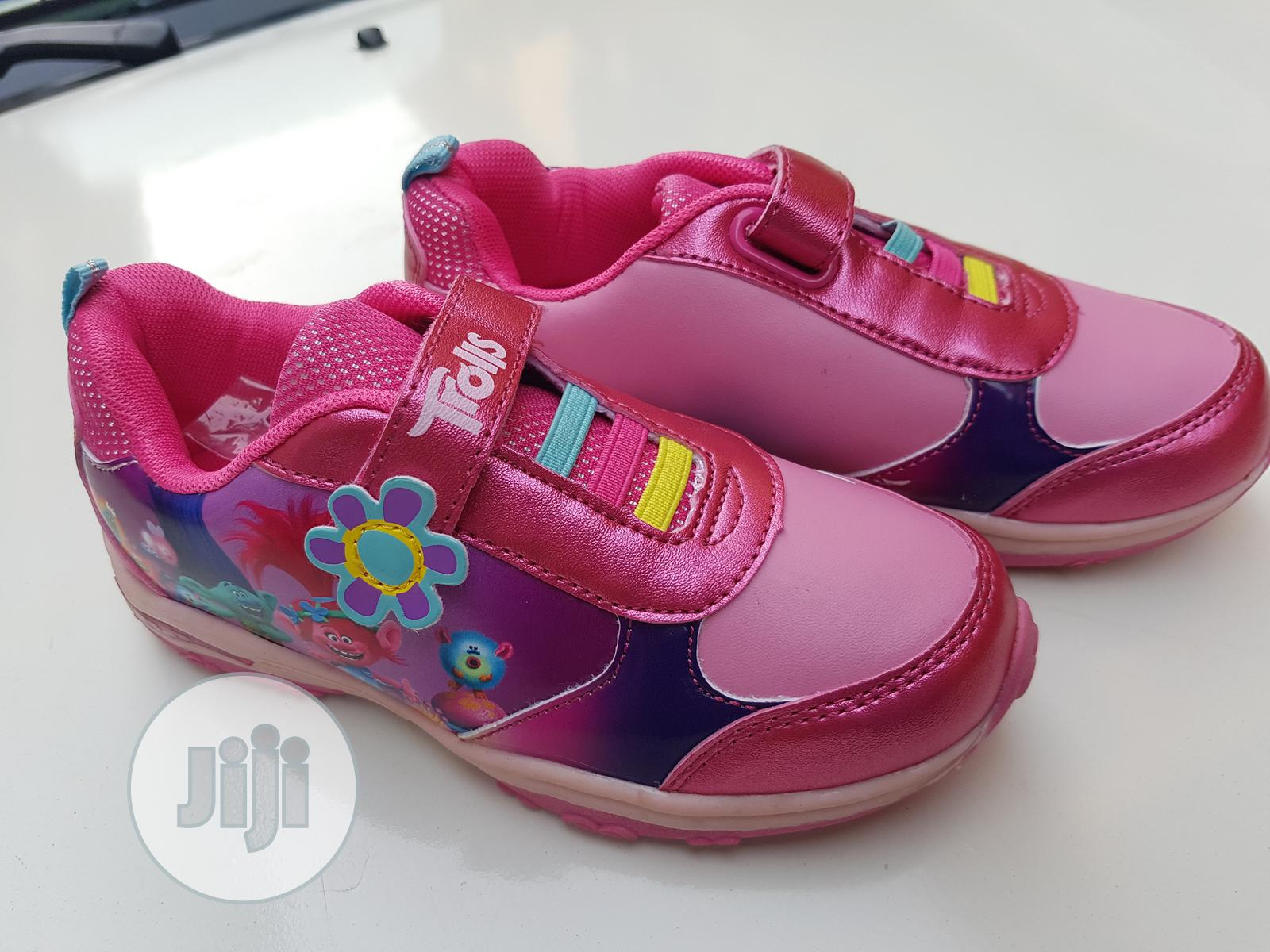 Trolls Cartoon Character Sneakers | Children's Shoes for sale in Ikeja, Lagos State, Nigeria