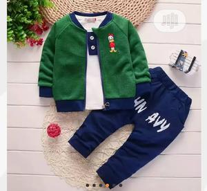 Quality Boys Long Sleeve Sweat Jacket,Inner Top and Pant   Children's Clothing for sale in Lagos State, Surulere