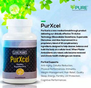 Live Pure Purxcel Capsules | Vitamins & Supplements for sale in Lagos State, Ikeja