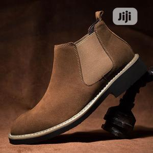 Luxury Chelsea Boots Men Top Quality Ankle Boots -brown   Shoes for sale in Lagos State