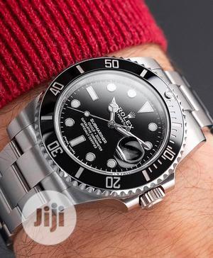 Rolex (SUBMARINER) Silver/Black Chain Watch | Watches for sale in Lagos State, Lagos Island (Eko)