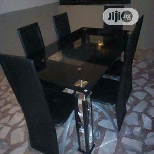 By 6 And 4 Chairs Glass Top Dinning Table | Furniture for sale in Lagos State, Mushin