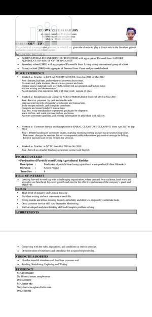 Customer Service Representative | Customer Service CVs for sale in Lagos State, Yaba