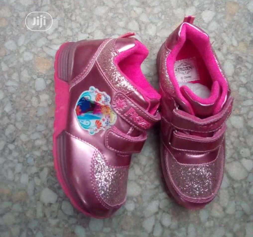 Pink Frozen Canvas For Girls