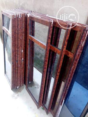 Wood Finishing Aluminum Sliding Windows | Windows for sale in Lagos State