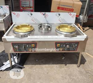 Chinese Cooker Double Burner With Tap | Restaurant & Catering Equipment for sale in Lagos State, Ojo