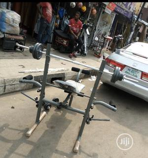 Weight Bench With 50kg Barbell | Sports Equipment for sale in Lagos State, Lekki