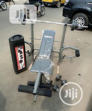 Weight Bench With 50kg Barbell | Sports Equipment for sale in Lagos State, Amuwo-Odofin