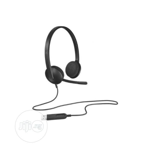 Logitech Usb Stereo Headset H340 For Windows And Mac | Headphones for sale in Ikeja, Lagos State, Nigeria