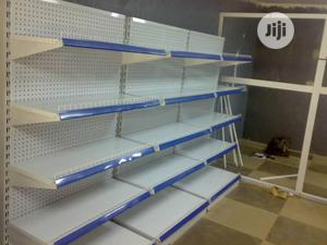Single Sided Height 7feets Supermarket Display Shelving Racks | Store Equipment for sale in Lagos State