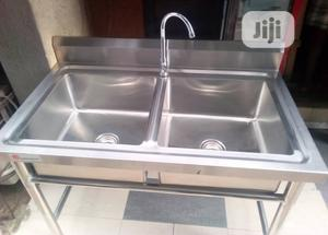 Stainless Kitchen Sink Double Bowl | Restaurant & Catering Equipment for sale in Lagos State, Ojo