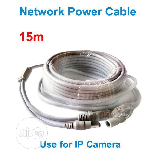 15M Ethernet Cable RJ45+DC Power Cat 6 Cable
