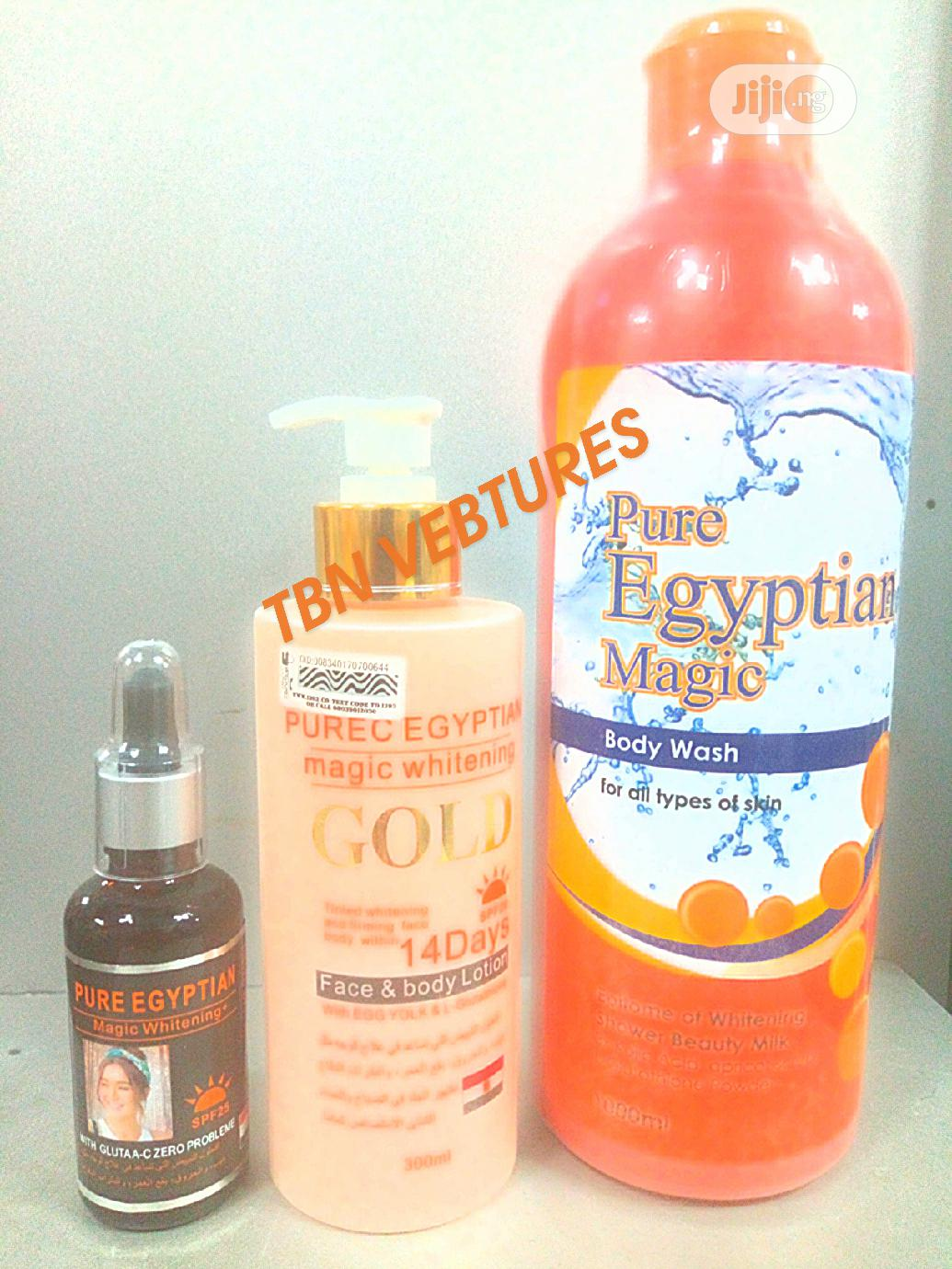 Pure Egyptian Magic Whitening Set (With Purec Gold Lotion)