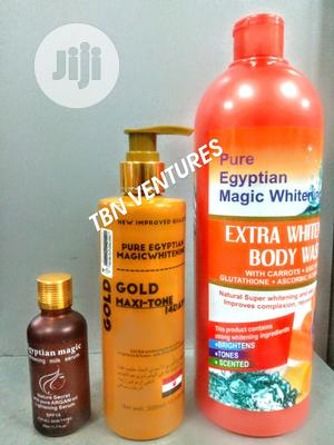 Pure Egyptian Magic Extra Whitening Set (With Gold Maxitone Lotion) | Skin Care for sale in Lagos State, Amuwo-Odofin