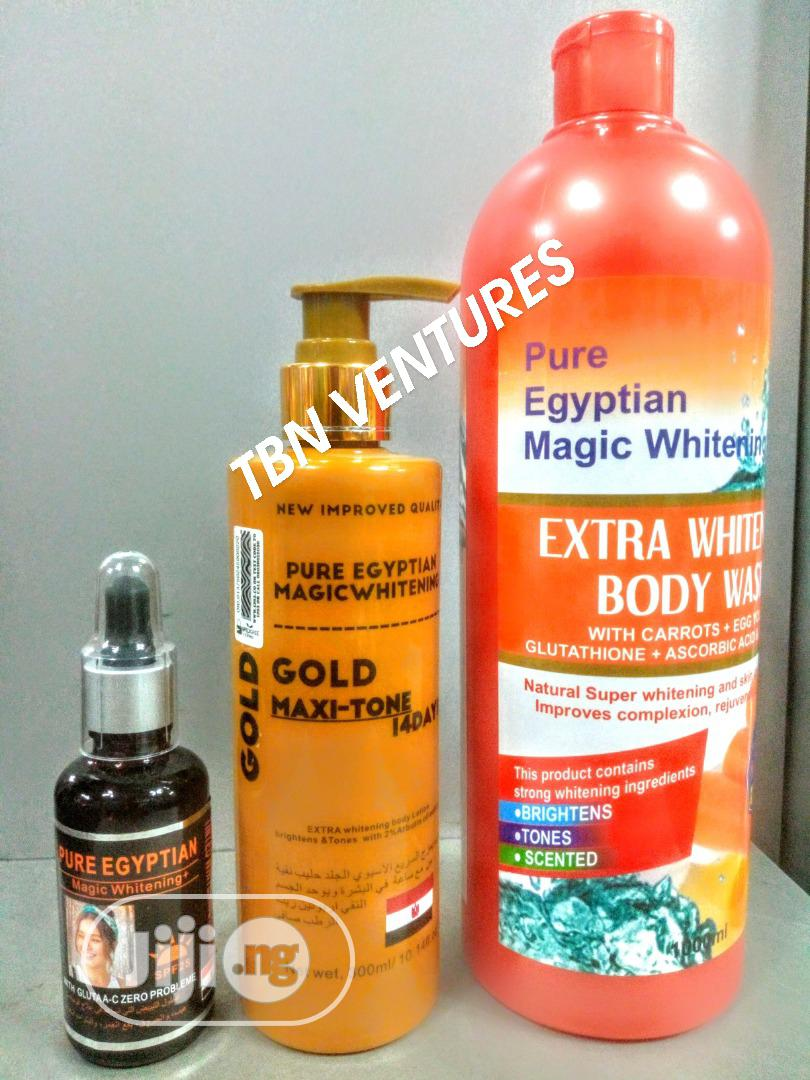 Pure Egyptian Magic Extra Whitening Set (With Gold Maxitone Lotion)