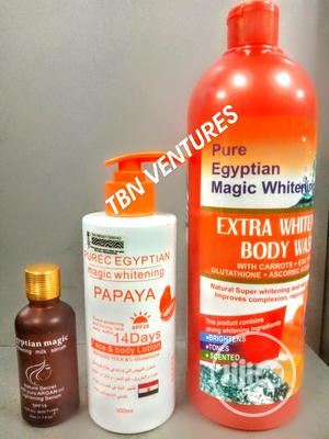 Pure Egyptian Magic Extra Whitening Set (With Purec Papaya   Skin Care for sale in Lagos State, Amuwo-Odofin
