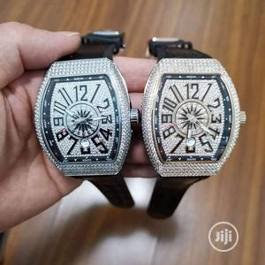 Franck Muller Full Ice Silver Leather Strap Watch | Watches for sale in Lagos State, Lagos Island (Eko)