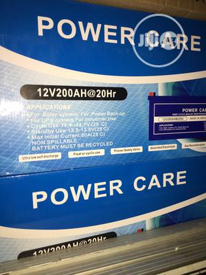 200ah 12v Power Care Battery Available With 1yr Warranty | Solar Energy for sale in Lagos State, Ojo