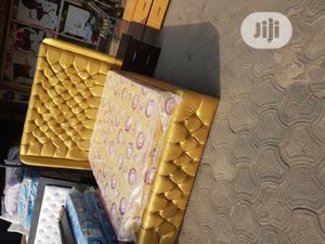 4x6 Upholstery Bedframe With Mouka Standard Mattress | Furniture for sale in Lagos State, Lagos Island (Eko)