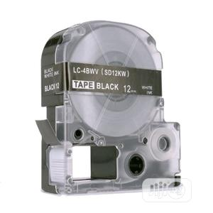 Brother Label Tape Cartridge For Epson 12mm Black On White Tape   Accessories & Supplies for Electronics for sale in Lagos State, Ikeja