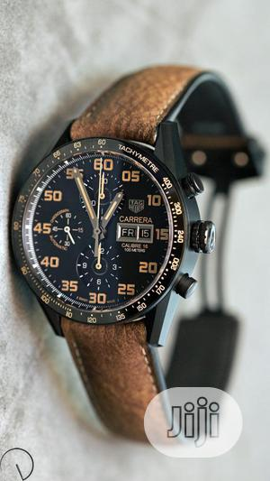 Tag Heuer (CARRERA) Chronograph Leather Strap Watch | Watches for sale in Lagos State