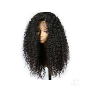 Natural Soft Wig Black Curly Wavy Long | Hair Beauty for sale in Lagos State, Surulere