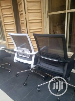 Grey and Black Mesh Swivel Office Chairs   Furniture for sale in Lagos State, Victoria Island