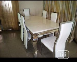 Affordable Marble Dining Table With Six Chairs | Furniture for sale in Lagos State, Lagos Island (Eko)
