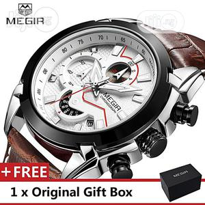 Military Chronograph Clock Male Megir Army Style Wrist Watch   Home Accessories for sale in Lagos State, Victoria Island