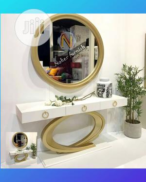 Console With Round Mirror | Furniture for sale in Lagos State, Ajah
