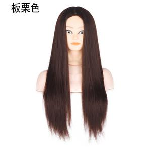 Mannequin Head Straight Long Sliky Chestnut Wig | Hair Beauty for sale in Lagos State, Victoria Island