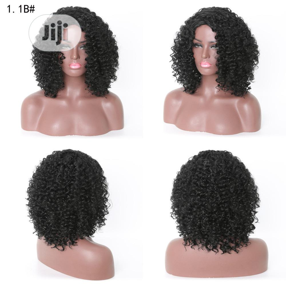 Short African Ladies Classic Human Hair Curly Wig