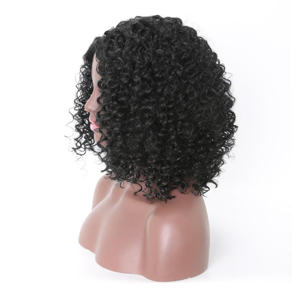 Short African Ladies Classic Human Hair Curly Wig   Hair Beauty for sale in Ikoyi, Lagos State, Nigeria