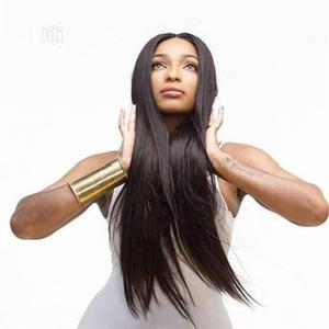 Straight Black Long Wig(High Temperature Wire)   Hair Beauty for sale in Lagos State, Alimosho
