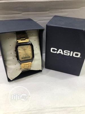 Casio Gold/Black Digital Chain Watch | Watches for sale in Lagos State, Lagos Island (Eko)