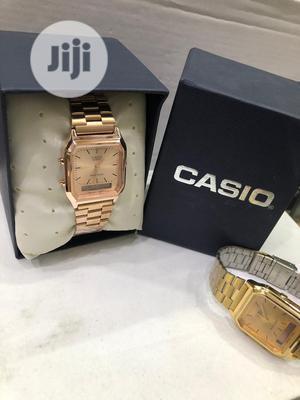 Casio Rose Gold Digital Chain Watch | Watches for sale in Lagos State, Lagos Island (Eko)