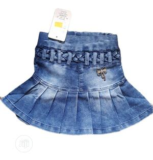 Girls Cute Jeans Skirt | Children's Clothing for sale in Lagos State, Isolo