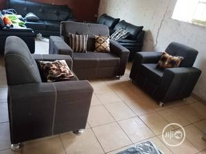 A 4-Seater Set of Sofa Chair With Fabric Materials.   Furniture for sale in Lagos State