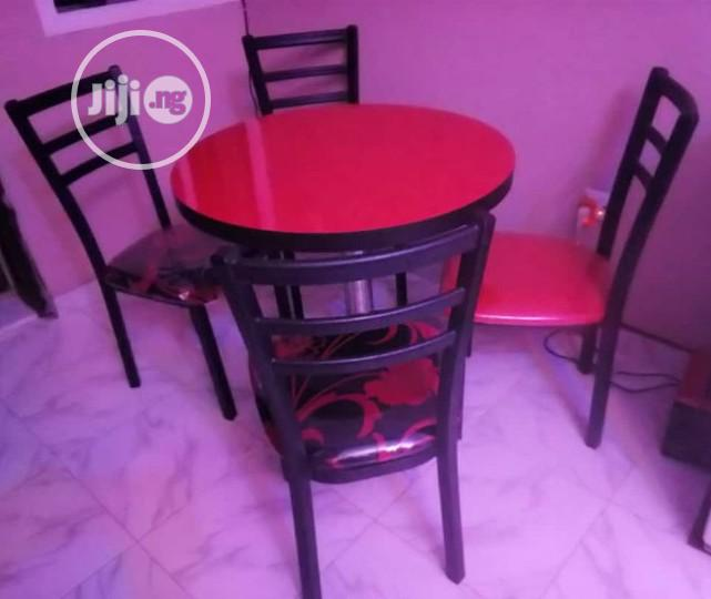 Archive: Quality Restaurant/Dinning Table With 4 Iron Black Frame Chairs