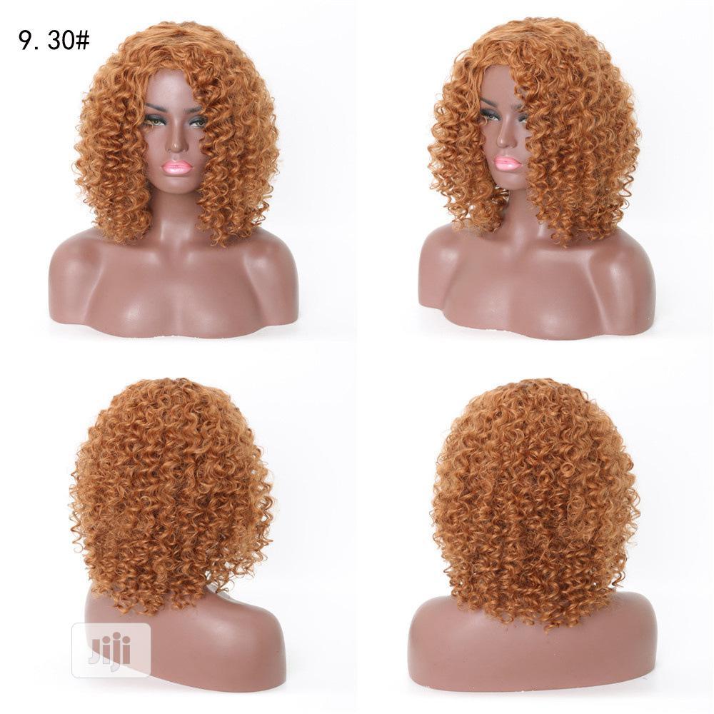 American Light Brown Short Curly Human Hair Wigs