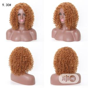 Short Curly Hair Light Brown Soft Cool Wigs | Hair Beauty for sale in Lagos State, Victoria Island