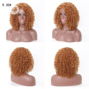 Short Silky Curly Hair Soft Light Brown Wigs | Hair Beauty for sale in Lagos State, Lekki